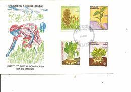 Dominicaine - Plantes Alimentaires ( FDC De 1987 à Voir) - República Dominicana