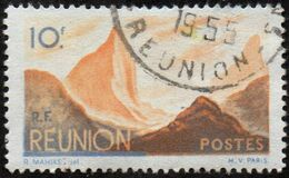 Réunion Obl. N° 277 - Détail De La Série émise En 1947 - 10f Bleu Et Orange - Used Stamps
