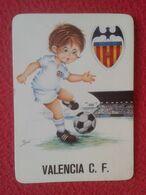 SPAIN CALENDAR CALENDARIO DE BOLSILLO 1974 VALENCIA CLUB DE FÚTBOL SOCCER FOOTBALL MURCIÉLAGO BAT PLAYER JUGADOR ESCUDO. - Kalender