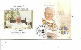 Papes - Jean-Paul II ( FDC De Panama De 2007 à Voir) - Papas