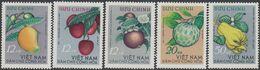 North Vietnam 1964 - Tropical Fruits - Mi 334-338 ** MNH - Vietnam