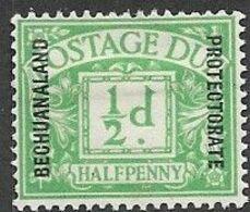 Bechuanaland 1926  Sc#J2  1/2d Due  MH  2016 Scott Value  $11 - Bechuanaland (...-1966)