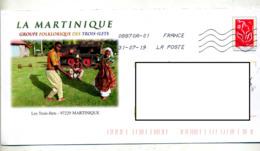 Pap  Lamouche  Flamme Chiffrée Sous Code Illustré  Groupe  Folklorique Trois Ilets - Biglietto Postale