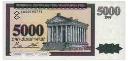 ARMENIA 5000 DRAM 1995 Pick 40 Unc - Armenia