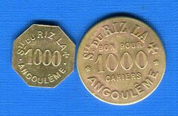 Angouleme  2  Jetons - Monetari / Di Necessità