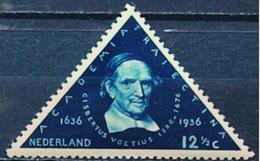 Nederlande Pays-Bas 1936:  Gisbertus Voetius (1588-1676) Michel-No. 296 NPHV 288 Yvert 287 ** Postfris MNH - Teologi