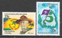 Cocos N° 84/85 Yvert NEUF * - Kokosinseln (Keeling Islands)