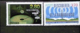 CEPT Entdeckungen / Erfindungen Andorra RF 465 - 466  ** Postfrisch MNH - 1994