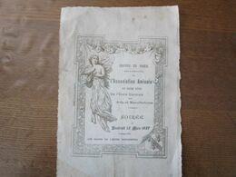 GROUPE DE PARIS DE L' AMICALE DES ANCIENS ELEVES DE L'ECOLE CENTRALE DES ARTS ET MANUFACTURES SOIREE DU 12 MARS 1897 HOT - Programs