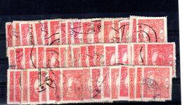 Hradcany  : Le 15 H Rouge Dentelé Y 32 Mi 26  : 50 Pieces Pour Etude ( Dentelure , Teinte , Type , Planchage ) - Gebruikt