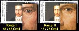 2255I+II Albrecht Daniel Thaer - Type I Und II, Rastertypen-Set ** - Unclassified