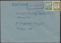 Landpost-Stempel 2051 Möhnsen Auf Briefdrucksache HAMBURG-BERGEDORF29.4.1963 - Briefe U. Dokumente