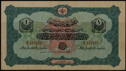 TURKEY 1915-16 OTTOMANE IMPERIA BANKNOTES 1 LIVRE UNC !! - Turkije