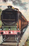 630/ Oude Klepjeskaart, Trein, Groeten Uit 's Gravenhage, NS Nr. 10 1926 - Den Haag ('s-Gravenhage)