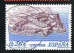 SPAGNA (SPAIN)  -  SG 3958   - 2003 CASTLES: SAN FELIPE, FERROL - USED - 1931-Oggi: 2. Rep. - ... Juan Carlos I