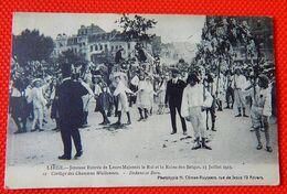 LIEGE  - Joyeuse Entrée De Leurs Majestés Le Roi Et La Reine Des Belges Le 13-07-1913 - Cortège Des Chansons Wallonnes - Liège