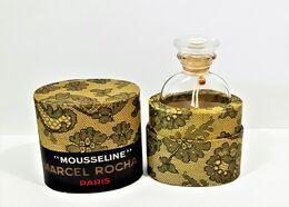 Flacon  De Parfum   FLACON VIDE  MOUSSELINE  De  ROCHAS   BOUCHON  ÉMERI VERRE MARCEL ROCHAS - Flacons (vides)