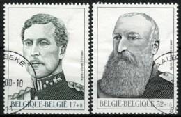 België 2793/94 - Belgisch Koningshuis - Koning Albert I - Koning Leopold II - Dynastie Belge - O - Used - Used Stamps