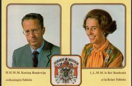 België - Postkaart - Koning Boudewijn / Koningin Fabiola - Altri