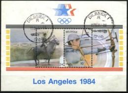België BL60 - Olympische Spelen 1984 - Los Angeles - Boogschieten - Equitation - Gestempeld - O - Used - Blocks & Sheetlets 1962-....