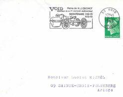 """Empreinte  Flamme Illustrée Secap =o De 55 Void 22-11 1969 """"Bicentenaire De La Voiture Automobile N.J.Cugnot - Maschinenstempel (Werbestempel)"""