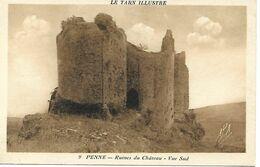 Carte Postale - CPA Dpt N°81 TARN - Non écrite - PENNE - Ruines Du Château - Vue Sud. - Altri Comuni