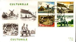 - 1532/35 - FDC - Culturele Uitgifte - 1961-70