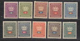 Liechtenstein 1950 Dienstmarken 10v ** Mnh (49775) - Official