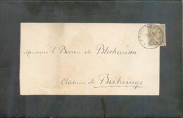 2 Centimes Olive Obl. Dc ETTELBRUCK Sur Faire-part De Deuil Imprimé (Theodore MONGENAST) Du 27-5-1900 Vers Château De Bi - 1895 Adolphe Profil