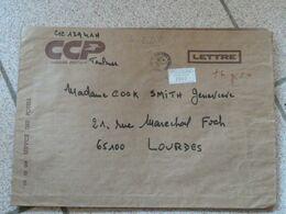 Lettre Chargée Des CCP Toulouse 198? Avec 5 Cachets De Cire Cheques Postaux Toulouse - 1961-....