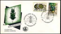 België - FDC - 1611 + 1613   Insecten - 1971-80
