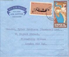 CYPRUS - AEROGRAMME 1971 NICOSIA - LONDON //ak966 - Briefe U. Dokumente