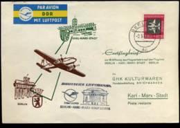 First Flight, Berlin-Karl Marx Stadt-Berling, 1958 - [6] Democratic Republic