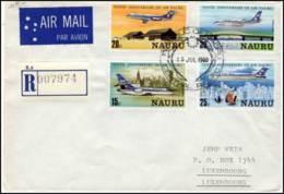 Registered Cover From Nauru To Luxemburg - Nauru