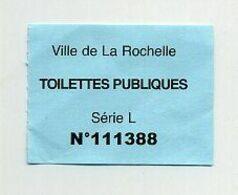 Toilettes Publiques Payantes. Fee Ticket For Public WC. La Rochelle, France. 2020. - Eintrittskarten