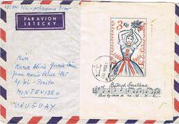 36601. Carta Aerea PARDUBICE (Checoslovaquia) 1966. Hojita MUSIK, Musica, Vestidos Novia - Covers & Documents