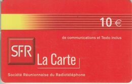 LA RÉUNION - TÉLÉCARTE - GSM DU MONDE *** RECHARGE GSM - 10€  - SFR 07/04  *** - Réunion