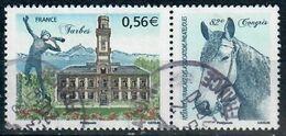 YT 4368-1 TARBES 2009 82ème Congrès Philatelique Avec La Vignette-cachets Ronds - Used Stamps