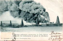 ARMENIE  INCENDIE DES ETABLISSEMENTS DE PETROLE DE BIBI EBATTE  EN 1903 - Armenia
