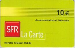 MAYOTTE - TÉLÉCARTE - GSM DU MONDE *** RECHARGE GSM - SFR 10€ - 07/06 *** - TAAF - Terres Australes Antarctiques Françaises