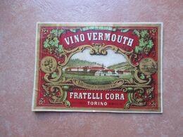Etichetta VINO Vermouth Fratteli Cora Torino - Advertising
