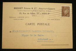 Pétain N°512 80c Seul Sur CP Brisset Paris 10/12/41 - Guerra De 1939-45