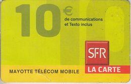 MAYOTTE - TÉLÉCARTE - GSM DU MONDE *** RECHARGE GSM - SFR 10€ - 07/09 *** - TAAF - Terres Australes Antarctiques Françaises