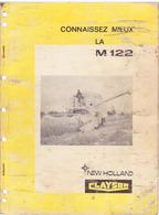 Documentation Moissonneuse Batteuse CLAYSON M 122 - Maschinen