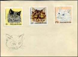 Hongarije - FDC - Katten / Cats - FDC