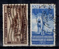 Italie YT N° 537 Et N° 562 Oblitérés. B/TB. A Saisir! - 1946-60: Afgestempeld