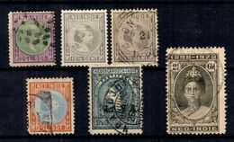 Indes Néerlandaises Six Bonnes Valeurs Anciennes  1873/1923. B/TB. A Saisir! - Indes Néerlandaises