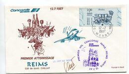 1er Atterrissage Concorde REIMS 12 Août 1987 - Airplanes
