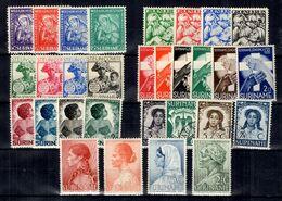 Surinam Sept Séries Complètes 1928/1940. Bonnes Valeurs. B/TB. A Saisir! - Surinam ... - 1975