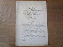 AFFAIRE COMTE MONIER DE LA SIZERANNE CONTRE Mme ET M.DE LEYMARIE LE 24 SEPTEMBRE 1864 FAITS,PATURAL AVOCAT,LE JUGE DE PA - Historical Documents